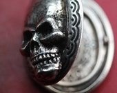 Skull Locket Necklace Mourning Locket ON SALE original design jewelry built in NYC quantity listing