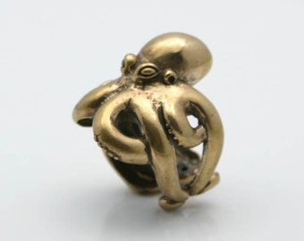 Octopus Ring Solid Bronze sizes 7 to 11 Blue Bayer Design NYC