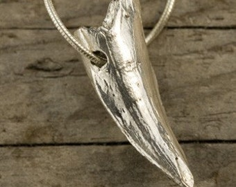 Crocodile Tooth in Sterling SIlver Wildlife Jewelry by Blue Bayer NYC