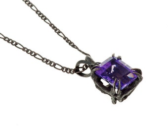 Catbird Solitaire Pendant Amethyst 10x8 3.12 ct New Release from Blue Bayer Design NYC