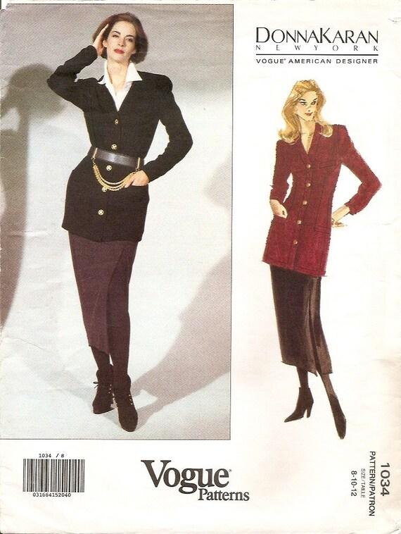Vogue American Designer  1034 DONNA KARAN jacket and skirt