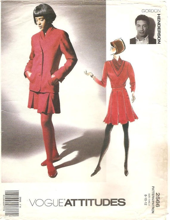1990s Gordon Henderson jacket, skirt and top pattern - Vogue 2566