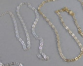 30 inch antqiued silver chain