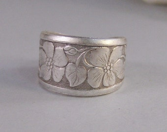 Blossom Ring,Silver,Ring, Flower,Rose Ring,Antique Ring,Silver Ring,Blossom,Posey. Handmade jewelery by valleygirldesigns.
