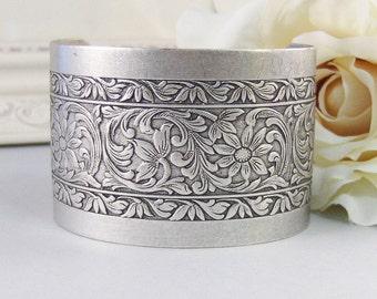 Elisse,Bracelet,Cuff,Silver Bracelet,Cuff Bracelet,Boho Bracelet,Boho Jewelry,Vintage Bracelet,Victorian Bracelet,Filigree,valleygirldesigns