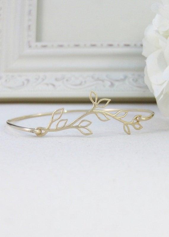 Hazel Branch,Gold,Bangle,Bracelet,Gold,Branch,Gold Bracelet,Branch,Bride,Wedding. Handmade jewelry by valleygirldesigns on Etsy.