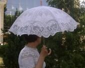 unique white lace umbrella
