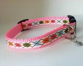 Small Fall Shades Argyle dog collar