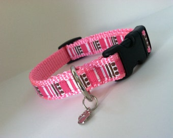 Extra Small Stripes and Spots Dog Collar