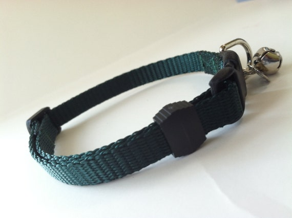 Cat Collar in Basic Forest Green