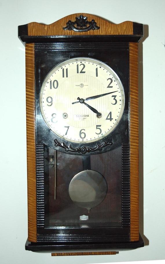 Antique Seikosha Duo Tone Wall Clock