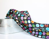 Baby Swaddle Blanket in Black, Pink, Purple Dots, La Di Dot, Flannel Baby Blanket, Baby Swaddling Blanket in Multi-Color Polka Dots