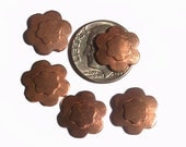 Copper Flower Whimsy 6 Petal Flower in Flower Blank Cutout for Enameling Stamping Texturing 1/2 24G
