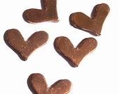 Copper Blank Deep V Heart 14mm x 11mm 20g for Enameling Stamping BlanksTexturing Soldering