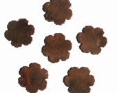 Copper Flower Jagged Edge Blank for Enameling Stamping Texturing Soldering Jewlery Making Blanks