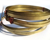 Brass Bezel Wire - Handmade - 5mm wide - 24g - 3 feet length