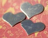 Nickel Silver Blanks Medium Heart 28mm x 21mm Metal Shape Form Blank