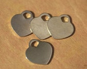 Nickel Silver Padlock Heart 17mm x 19mm Metal Blanks Shape Form Charms Metalworking Jewelry Making Blank - 4 pieces
