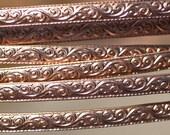 Copper Ring Stock Shank 5.5 Flourish Textured Metal Cane Wire - Rings Bracelets Pendants Metalwork