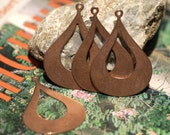 Copper Arabic Blank Earring Shape Cutout Blanks for Enameling Stamping Texturing