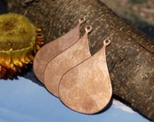 Copper Blanks  Arabic Earring Shape Cutout Blanks for Enameling Stamping Texturing