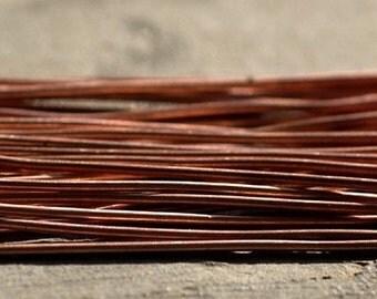 Handmade Copper Ball Headpins 18 gauge - 2 1/4 inch long - 57mm - 25 pieces
