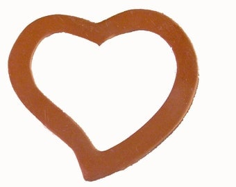 Copper Heart Frame 40mm x 37mm for Blanks Enameling Stamping Texturing