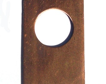 Copper Clasp 31mm x 19mm Blank Cutout with hole for Enameling Soldering Stamping Texturing