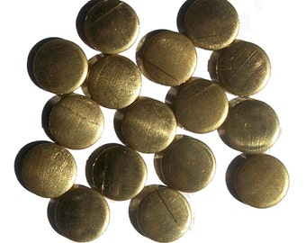 Brass Disc 8mm 22g Circle Blank Cutout for Soldering Stamping Texturing Blanks