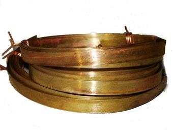 Brass Bezel Wire - Handmade - 8mm wide - 22g - 10 feet length