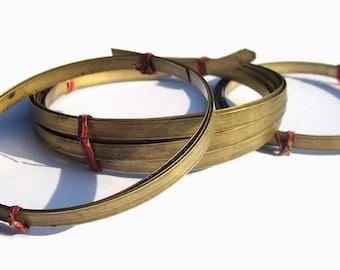 Brass Bezel Wire - Handmade - 6mm wide - 28g - 10 feet  length