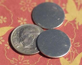 Nickel Silver Blank 16mm 20g Discs Round Metal Blanks Shape Form