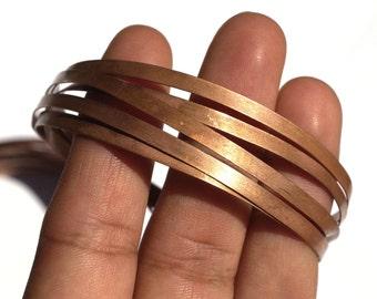 Copper Bezel Wire - Handmade - 6mm wide - 30 Gauge - 10 feet length