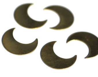 Brass Moon Blank Fantastica Luna 25mm x 21mm 22g Metal Blanks Cutout Shape Form