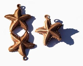 Copper Starfish Pair of Very Realistic Starfish Blanks - 2 pair