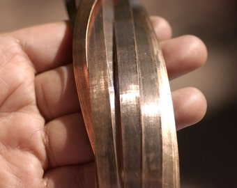 Copper Bezel Wire - Handmade - 7mm wide - 26 Gauge - 10 feet length