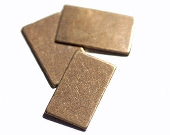 Copper Rectangle Flat 11mm x 19mm Blank Cutout Shape  for Enameling Stamping Texturing Blanks