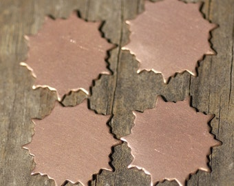 Copper Sun 22mm Shape Cutout Blank for Enameling Stamping Texturing