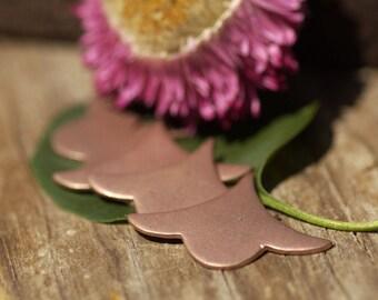Copper Arabic Spread Fan 31mm x 21.5mm 20g Shape Cutout Blank for Enameling Stamping Texturing Soldering Blanks