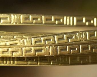 Brass Ring Stock Shank 7mm Celtic Pattern Heavy Textured Metal Wire - Rings Bracelets Pendants Metalwork