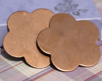Copper Flower 54mm 18g Blanks  Cutout for Enameling Stamping Texturing