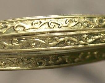Brass Ring Stock Shank 8.2mm Flourish Textured Metal Cane Wire - Rings Bracelets Pendants Metalwork