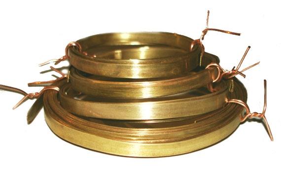 Brass Bezel Wire - Handmade - 5mm wide - 28g - 3 feet length