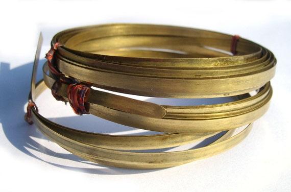 Brass Bezel Wire - Handmade - 7mm wide - 24g - 3 feet length