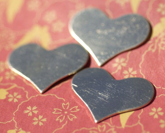 Nickel Silver Blanks Medium Heart 28mm x 21mm Metal Shape Form Blank