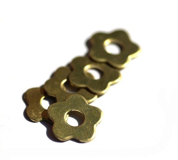 Brass Blank Flower with Small Center Hole Cutout for Blanks Soldering Stamping Texturing