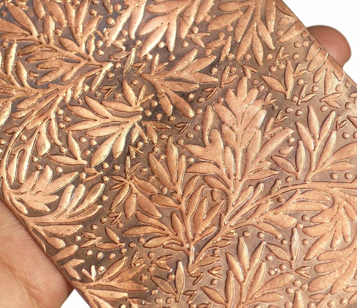 Copper Texture Metal Sheet Forest Of Leaves Pattern 18g 6