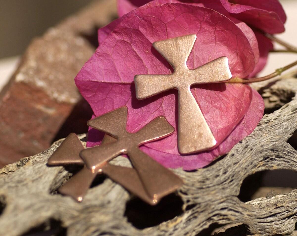 Copper Malta Cross Blanks 27mm X 22mm 22g Cutout For
