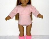 My little ballerina American Girl Doll handknit outfit
