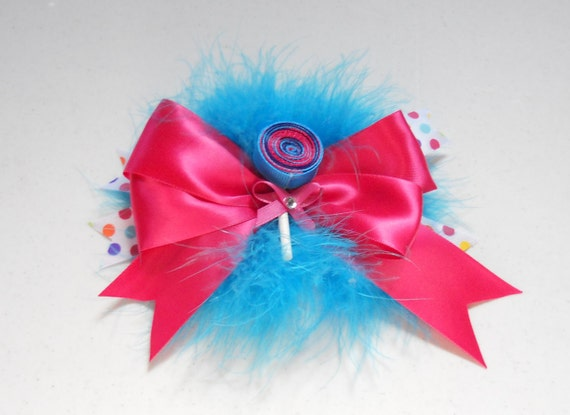 Boutique Hair Bow With Lollipop Center